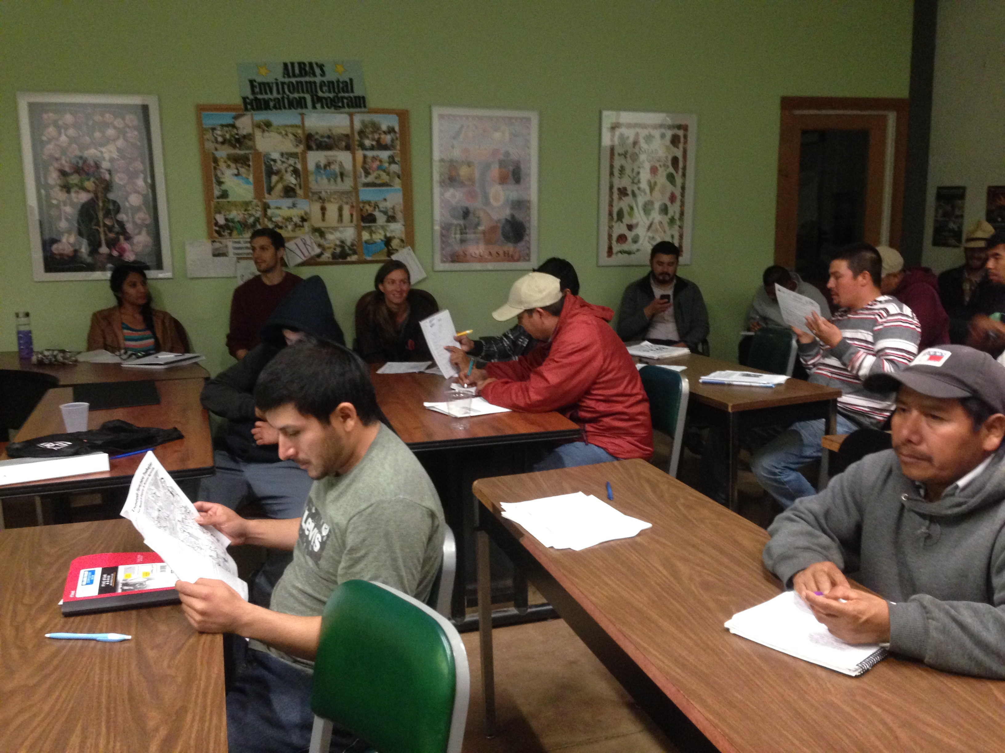 ALBA Farmers learning about recordkeeping strategies